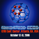 Nano4Food 2006, Atlanta - 12th - 13th October, 2006