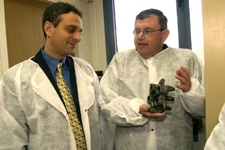 Eliezer Zandberg and ApNano Materials' CEO and Co-Founder, Dr. Menachem Genut