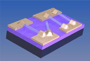 University of Pennsylvania - An image showing a circuit made of nanotubes