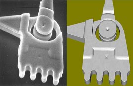 Zyvex - Actual SEM image (left) vs Memulator image