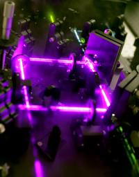 Laser in the Hertel Lab that is used to study nanotubes. (Photo by Daniel DuBois)