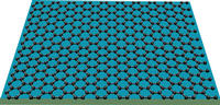 Image shows graphene, which can act as an atomic-scale billiard table, with electric charges acting as billiard balls. Image credit: Lau lab, UCR.