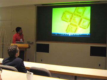 Assistant professor David Gracias (ChemBE) describes self-assembled