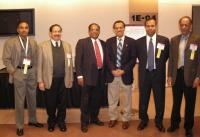 U.S. Nanotechies at the launch of The Indus Nanotechnology Association in New York City. From left to right: Challa Kumar, Brij M. Moudgil, Thomas Abraham, P. Somasundaran, Ganesh Skandan and Clarkson University Distinguished University Professor and CAMP Director S.V. Babu