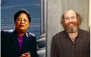 Shown here are 1) Shirley Ann Jackson, president of Rensselaer Polytechnic Institute (RPI), a former president of the American Association for the Advancement of Science, and a recipient of the National Science Board's prestigious Vannevar Bush Award; and 2) William Bialek, the John Archibald/Battelle professor in physics at Princeton University and winner of the President's Award for Distinguished Teaching at Princeton.