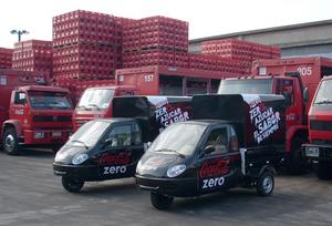 Coca-Cola is rolling out a new distribution model in Montevideo, Uruguay with US alternative transportation company ZAP (www.zapworld.com). Larger delivery vans will transfer Coca-Cola shipments into 30 small, efficient ZAP trucks for delivery into areas where larger vehicles are challenged by parking shortages, traffic congestion and air pollution.