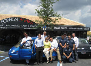 The Ortiz family and staff at Foreign Affairs Auto planted a tree on Earth Day to commemorate their new electric car dealership for ZAP (www.zapworld.com) in West Palm Beach, Florida.