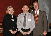 AccuStrata: pictured, from left to right--Tanya D. Berlage, partner, Saul Ewing; George Atanasoff, president and chieft technical officer, AccuStrata; Paul Silber, principal, Silber Associates. 