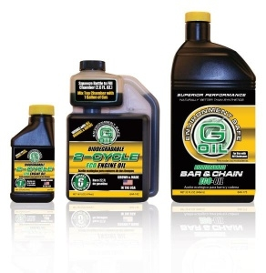 G-OIL 2 Cycle �ECO� Engine Oil and �ECO� Bar & Chain Oil from Green Earth Technologies can now be found on the shelves at The Home Depot. G-OIL is available in 2.6 oz and 16 oz 2 Cycle and 32 oz Bar & Chain (pictured). (Photo: Business Wire)