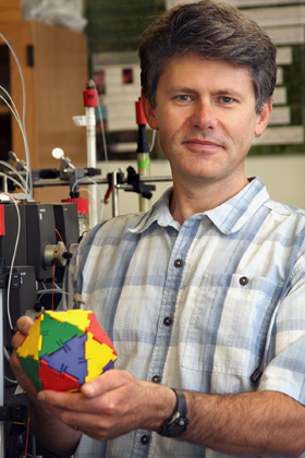 Trevor Douglas is a pioneer in the field of nanotechnology. (MSU photo by Leslie McDaniel).