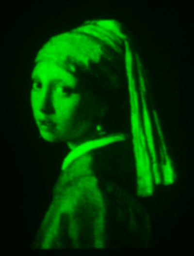 The research team reproduced the masterwork Girl with a Pearl Earring in the miniature dimension of 200 microns wide or about the thickness of two hairs.