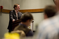 Internationally recognized research leader Andrew Maynard discussed nanotechnology during a conference held Nov. 10-11 at the University of Delaware.