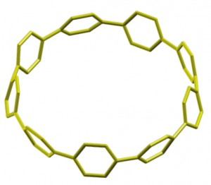 The shortest segment of a carbon nanotube has been synthesized for the first time. The compound, called cycloparaphenylene, could usher in a new era of more efficient carbon nanotube production.