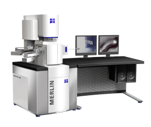 A key aspect of the new FE-SEM MERLIN(TM) from Carl Zeiss is Ease of use, for example in-situ sample cleaning, unique charge compensation or image acquisition in less than one minute. (Graphic: Business Wire)
