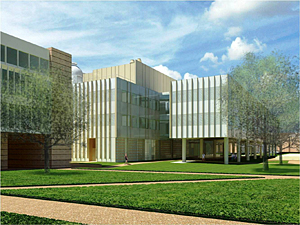 Artist rendering of the planned new Brockman Hall for Physics at Rice University.