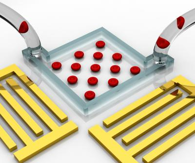 """Acoustic tweezers"" enable flexible on-chip manipulation and patterning of cells using standing surface acoustic waves.