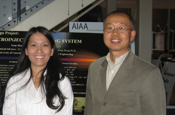 Associate Professor Hyoung Jin Cho (right) partnered with UCF colleague Sudipta Seal (not pictured).
