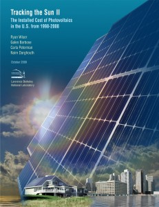 Tracking the Sun II: The Installed Cost of Photovoltaics in the U.S. from 1998-2008, by Ryan Wiser, Galen Barbose, Carla Peterman, and Naim Darghouth