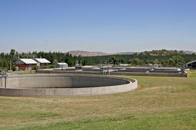 Sewage treatment plants serve as the main gateway for nanoparticles to enter the environment. Credit: Wikimedia Commons