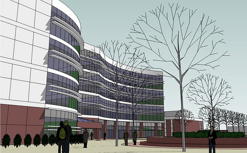 An artist's rendering of the planned facility, to be completed in 2012.