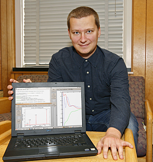 Konrad Patkowski, a postdoctoral researcher at UD who works with physicist Krzysztof Szalewicz, is the lead author of an article in the prestigious journal Science, confirming a 12th and highest vibrational level for the beryllium molecule.