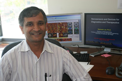 Ratnesh Lal, a UCSD bioengineering and mechanical engineering professor, led a multi-disciplinary team of researchers in a breakthrough discovery relating to Alzheimer's disease.