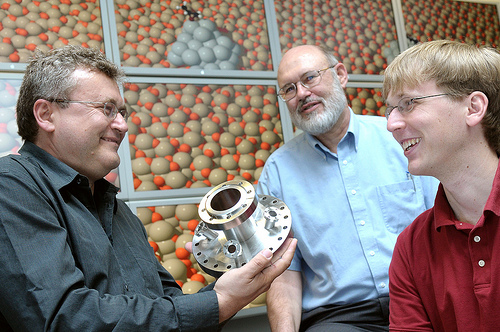 Argonne scientists (from left) Stefan Vajda, Larry Curtiss and Jeff Greeley have developed a new way of creating propylene that eliminates the many environmentally unfriendly by-products.