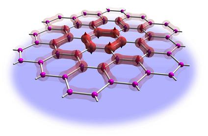 The simulation of the quantum spin-liquid was performed on a flat honeycomb structure, where the electrons show a dynamical phase lacking any order.