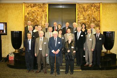 Speakers, moderators, and organizers. Back row: Sir Alan Fersht, Dominique Langevin, James T. Hynes, Frans De Schryver, Eva Wille, Bruno Samori, Christian Amatore, Carine Giovannangeli, Jacques Fastrez. Middle row: Peter G�litz, Karl-Heinz Altmann, Michel Orrit, Luisa De Cola, Nicolas Winssinger, Michael Gr�tzel, Edmond Amouyal, Michel Che. Front row: Roger Tsien, Jean-Marie Lehn, Gerhard Ertl, Ada Yonath (from left to right). (C) Wiley-VCH 2010