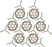 The first fullerene organic metal: (MDABCO+)TPC(C60.-), which has two-dimensional layers with a honeycomb arrangement of C60.- (see picture), is a fascinating example of a material composed of only light elements (C, H, N); it adopts a metallic state down to 1.9 K.