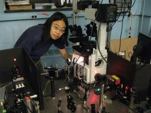 While in high school, Janet Sheung did a summer internship at Berkeley Lab in physics. She's now completing a doctorate in biophysics, and is custom building a 3D single molecule imaging system to study proteins. (Photo courtesy Janet Sheung)