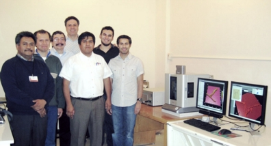 Shown with the Cypher AFM system, left to right:  Dr. Gilberto Mondragon-Galicia (ININ), Ing. Pavel Lopez (ININ), Ing. Carlos Segovia (Micra), Dr. Manuel Espinosa (Head of the Laboratory at the ININ), Ing. Miguel Urbano (Micra), Cristian Urrutia (Micra), and Amir Moshar (Asylum Research).