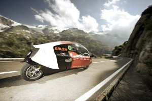The Zerotracer races through Switzerland, powered by Oerlikon Solar's thin film silicon technology. (Photo: Business Wire)
