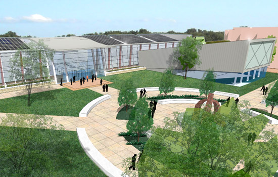 A rendering of the Golisano Institute for Sustainability.
