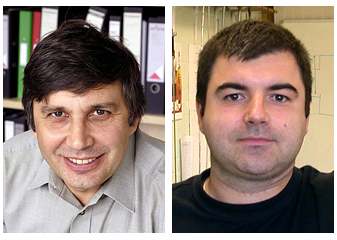 Andre Geim & Konstantin Novoselov. Photos: Sergeom, Wikimedia Commons.