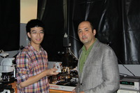 Alexander Balandin, right, and Guanxiong Liu, one of Balandin�s graduate students