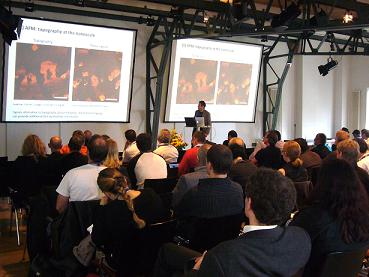 The audience listen to Dr Claudio Canale at JPK's 2010 Life Sciences symposium