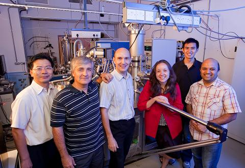 Prof Chirstian Joachim (second from left) and some the Atom Technology