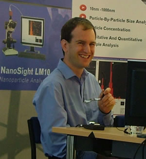 NanoSight�s Head of Development, Dr Patrick Hole