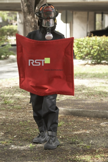 RST's Demron CBRN-Suit. RST's Demron High Energy Nuclear/IED/RDD Ballistic Shield (Photo: Business Wire).
