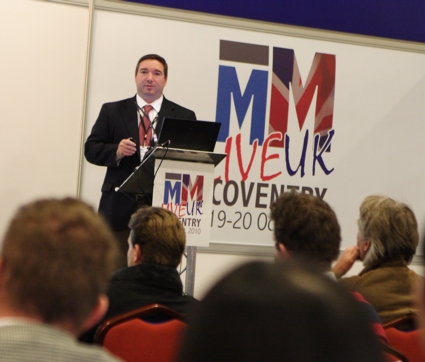 Brent Hahn, Business Development Manager, Accumold speaking at MM Live 2010