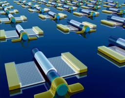 Self-aligned graphene transistor array