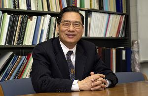 Chin-Pao Huang is principal investigator on a project to investigate engineered nanoparticles in ground wastewater. Photo by Kevin Quinlan.