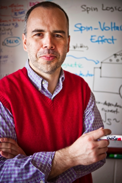 Theoretical physicist Igor Zutic and colleagues hope to create a quantum dot that is magnetic.