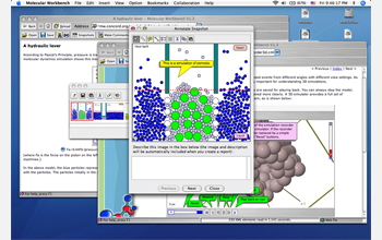 This is a screenshot of the Molecular Workbench in action. The Molecular Workbench uses visually stimulating simulations and activities that bring the atomic and molecular world to life.