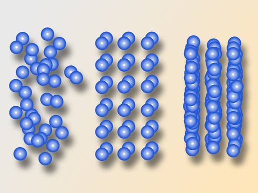 Intriguing structures formed by tiny particles floating in liquids. (Copyright: Vienna University of Technology)