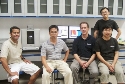 Shown with the Cypher AFM system, left to right: Amir Moshar (Asylum Research), Prof. Xingsen Gao (SCNU), Dr. David Beck (Asylum Research), Yan Feng (HZGLP), and George Jiang (HZGLP).
