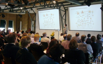 The audience at one of the sessions of the 2010 JPK workshops