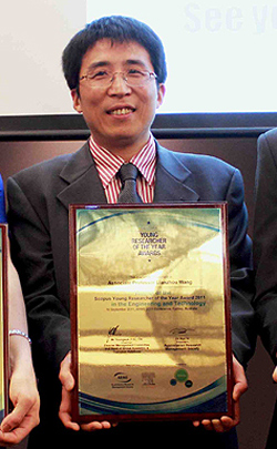 Scopus Young Researcher of the Year Award recipient Associate Professor Wang