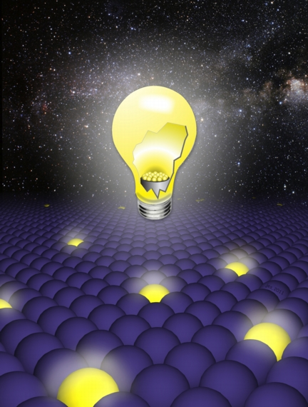 """Artists conception of how solving the problem of quantum blinking